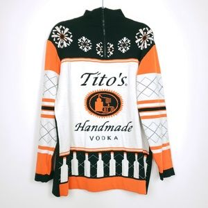 Tito's Vodka christmas sweater Limited editio